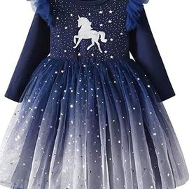La Licornerie Star-studded navy unicorn dress (18-24 months)