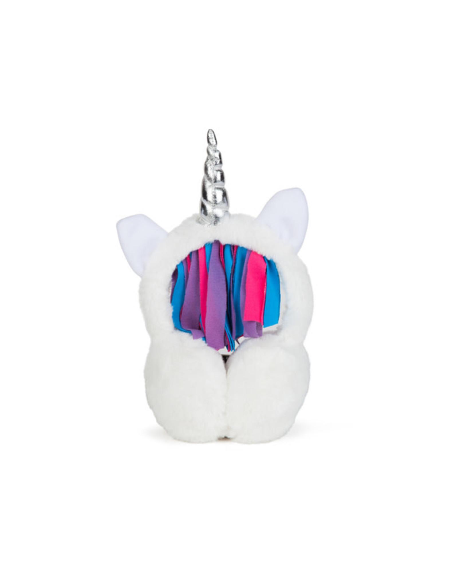 Couvre-oreilles licornesque en peluche