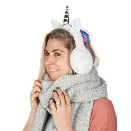 La Licornerie Couvre-oreilles licornesque en peluche