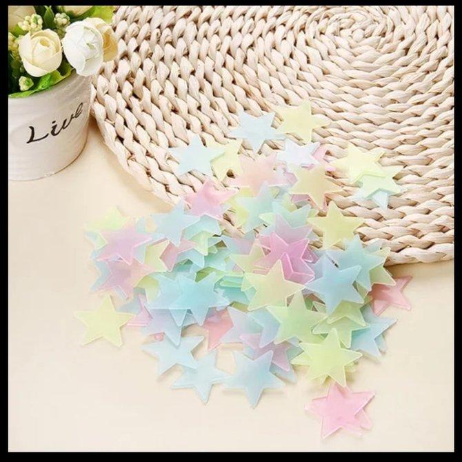 La Licornerie Pack of 100 decorative stars that shine in the dark