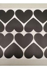 Coeurs appliqués muraux (34 coeurs)