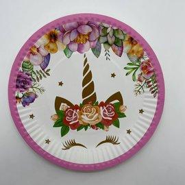 Assiettes en carton licornesques (10 petites)