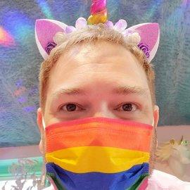 La Licornerie Disposable rainbow mask