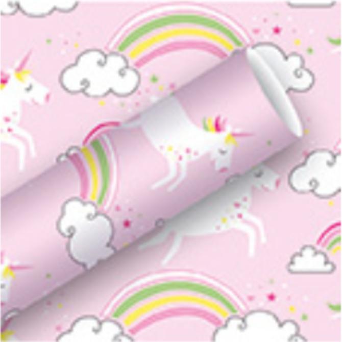 Rouleau de papier d'emballage Licornes