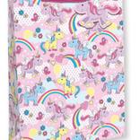 La Licornerie Sac à cadeaux parsemé de licornes colorées