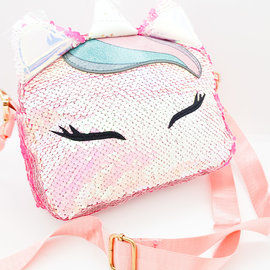 La Licornerie Pink Glittered shoulder bag