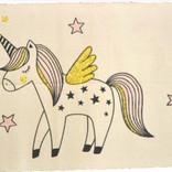 La Licornerie Tapis de bain Licorne et étoiles