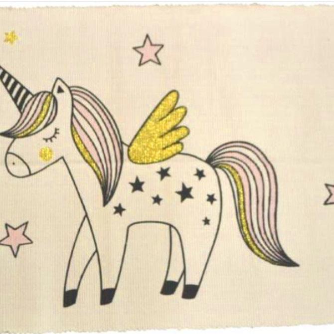 Tapis de bain Licorne et étoiles
