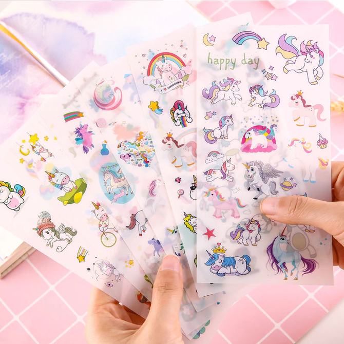 La Licornerie Unicorn sticker sheet