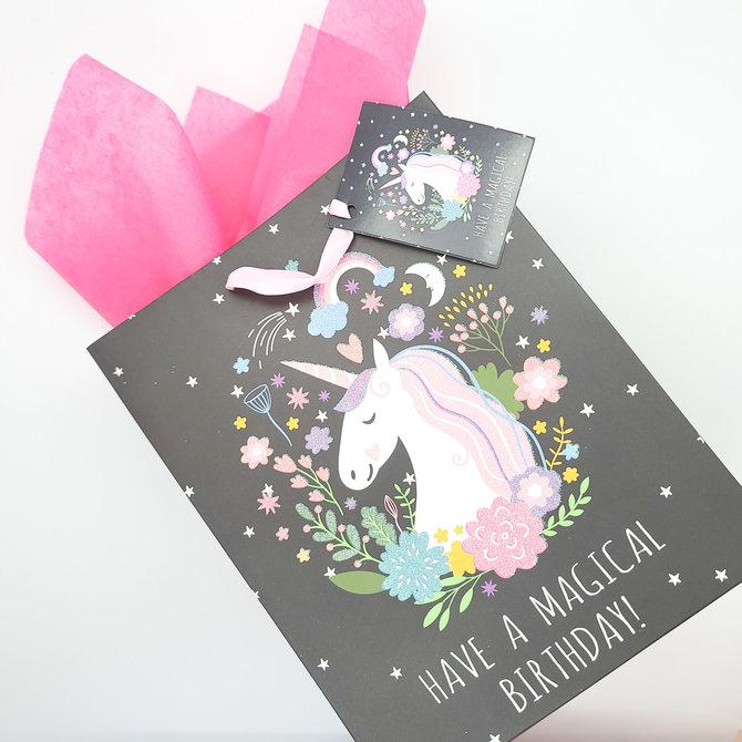 La Licornerie Unicorn Black Gift Bag (small size)