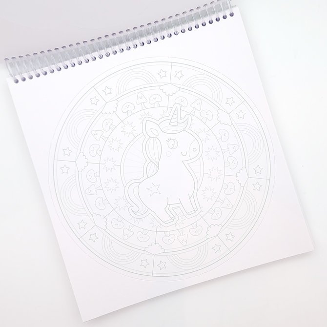 La Licornerie Booklet With 36 Magical and Unicornesque Mandalas DIY