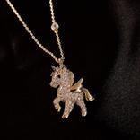 La Licornerie Collier licorne ailée dorée
