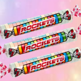 Bonbons Rockets rouleau unitaire