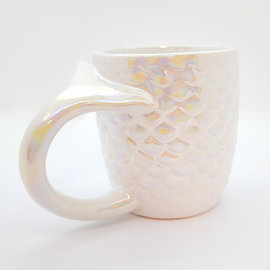 La Licornerie White iridescent mermaid cup