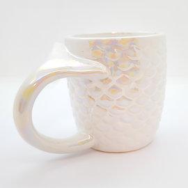Tasse sirène iridescente blanche