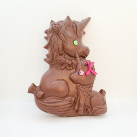 La Licornerie Milk chocolate 400g Mom and Baby Unicorn