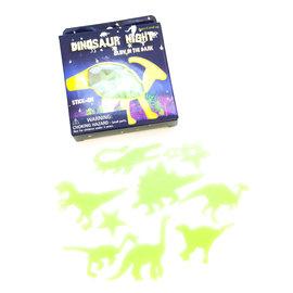 Dinosaures qui brillent dans le noir
