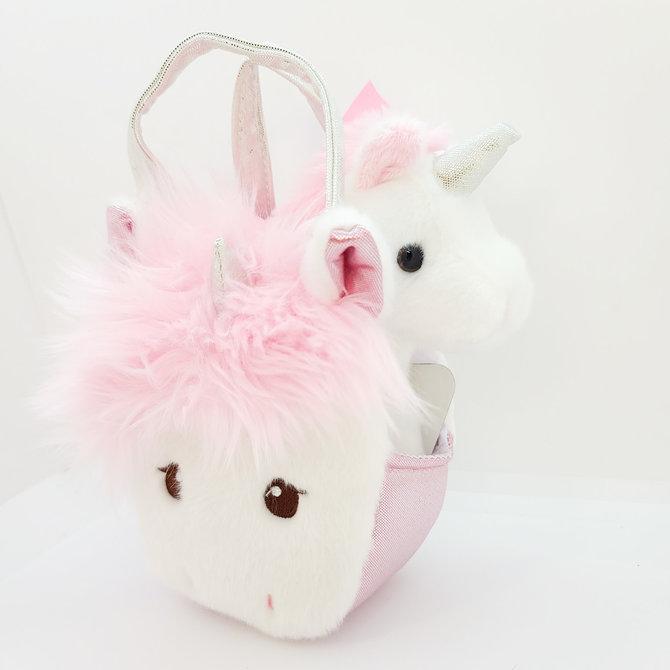 La Licornerie Small Handbag With Silky Mane Unicorn and a Small Unicorn Plush