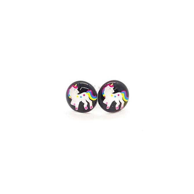 La Licornerie Stud earrings on black background