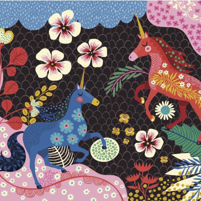 La Licornerie Two Unicorn 64 Piece Puzzle by Helen Dardik