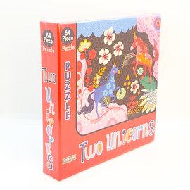 Two Unicorn 64 Piece Puzzle by Helen Dardik