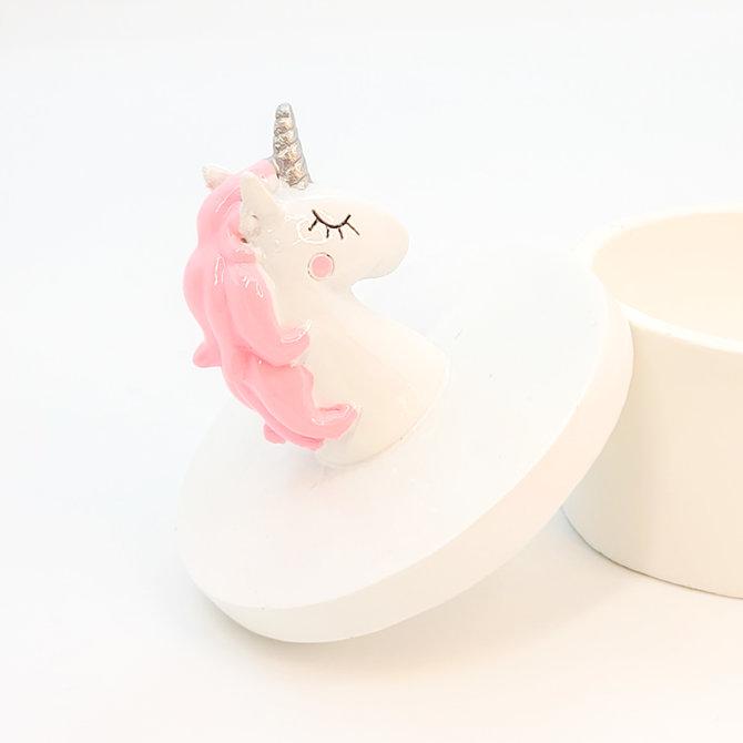 La Licornerie Boitier en céramique licorne rose