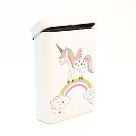 La Licornerie Small unicorn metal box on rainbow