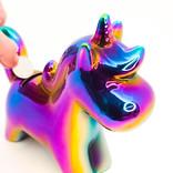 Tirelire iridescente Licornesque