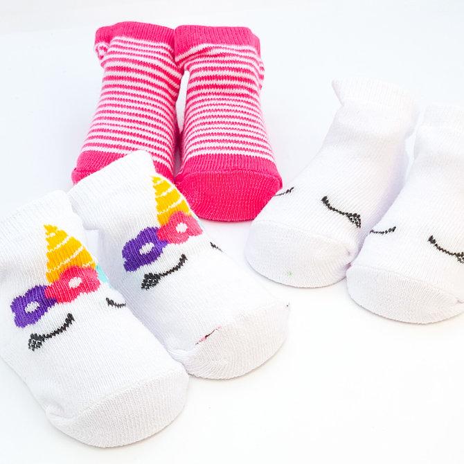 La Licornerie Ensemble de 3 paires de bas pour bébés 0-6 mois