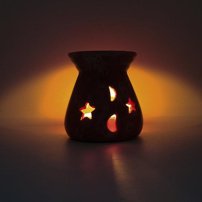 La Licornerie Brûleur à huiles essentielles rose marbré