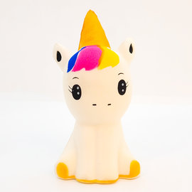 Squishy unicorn golden horn
