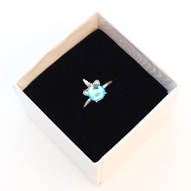 La Licornerie Unicorn translucent pearl adjustable ring