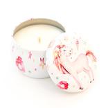 ♥♥ Chandelle sucrée au soja dans un boitier licornesque