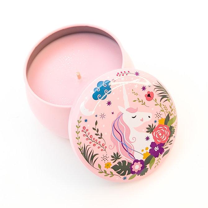 ♥♥ Sweet Soy Candle in a Unicorn Metal Tin