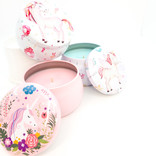La Licornerie ♥♥ Sweet Soy Candle in a Unicorn Metal Tin