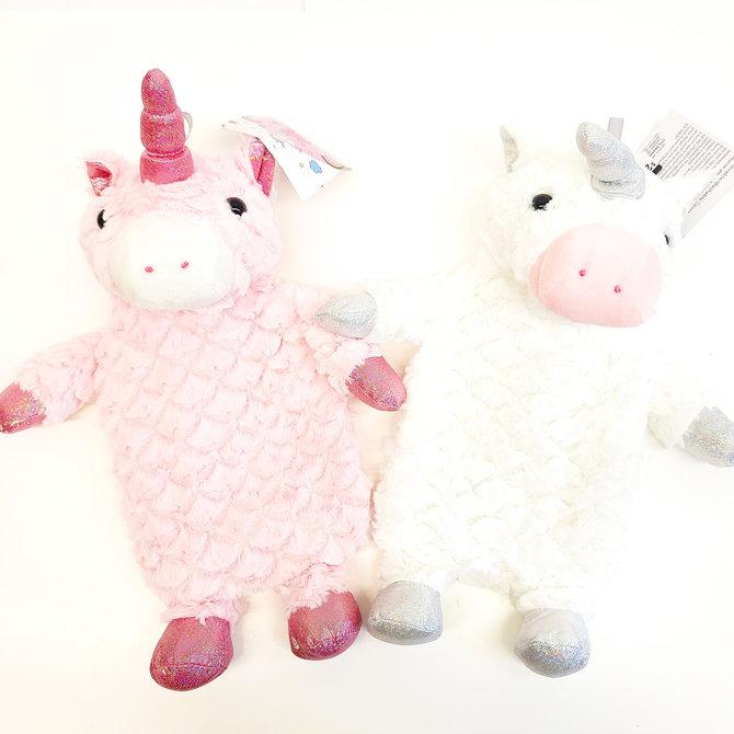 La Licornerie Pink or White Unicornesque Plush Hot Water Bag