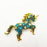 La Licornerie Unicornesque Metal Pin and Magical Crystals