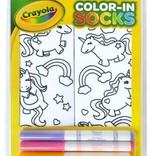 La Licornerie Bas licornesque à colorier avec 4 crayons à tissus