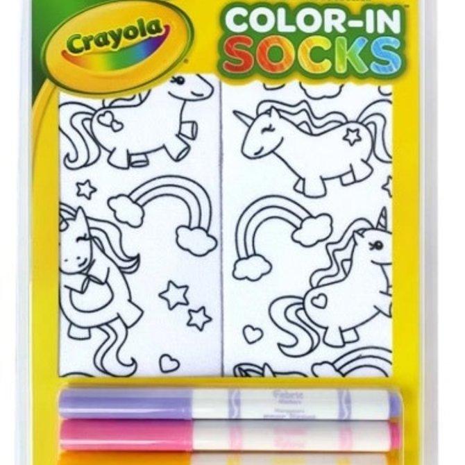 La Licornerie Unicornesque Color-In Socks with 4 Fabric Markers