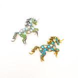 La Licornerie Broche licornesque en cristaux magiques