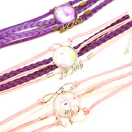 Bracelet tressé pendentif Licorne