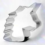 Petit emporte-pièce Licorne de profil en métal