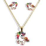 La Licornerie Ensemble collier boucle d'oreilles licorne