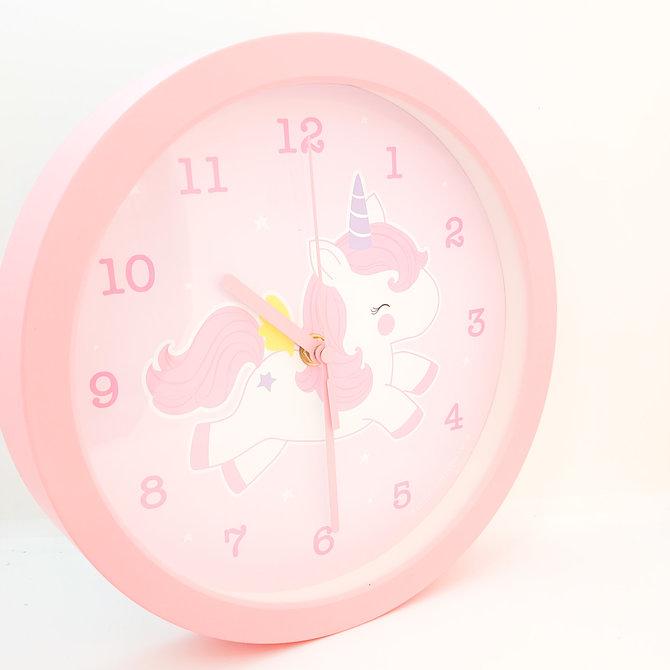 La Licornerie Horloge murale licorne rose