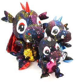 ♥♥ Glitter and Star Black Dragon Plush