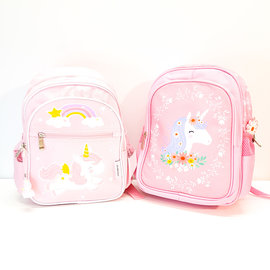 Small pink unicorn backpack