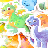 Paquet de 50 autocollants Dinosaures