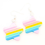 Pair of Sparkling Resin Earings
