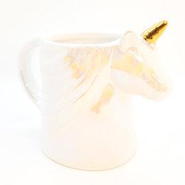 La Licornerie Tasse licorne iridescente blanche