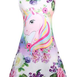 Sleeveless unicorn summer dress